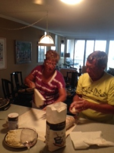 Kay & Jim at the lefse grill